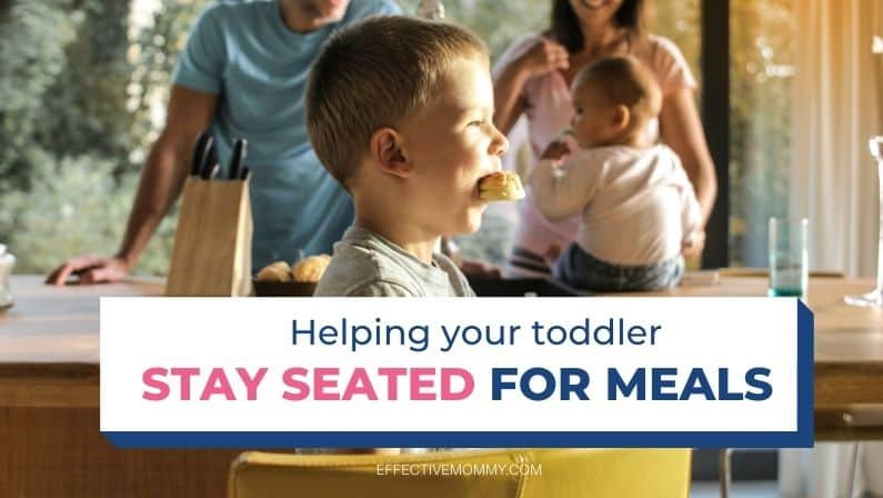 toddler at the dining table