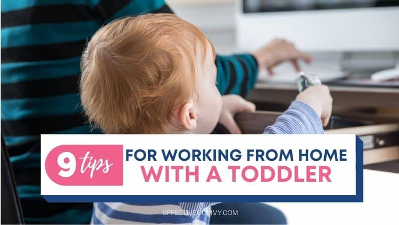 toddler playing while mom is working