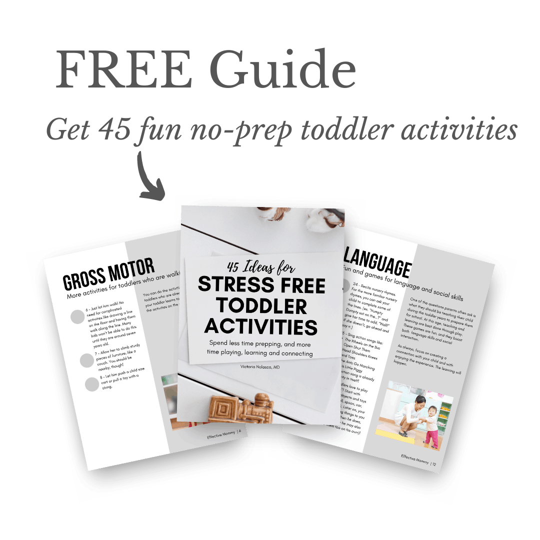 free guide: 45 stress free toddler activities